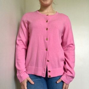 Lilly Pulitzer 100% Cashmere Pink Cardigan